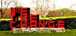 3D AMBIGRAM FOR WE THE CHANGE